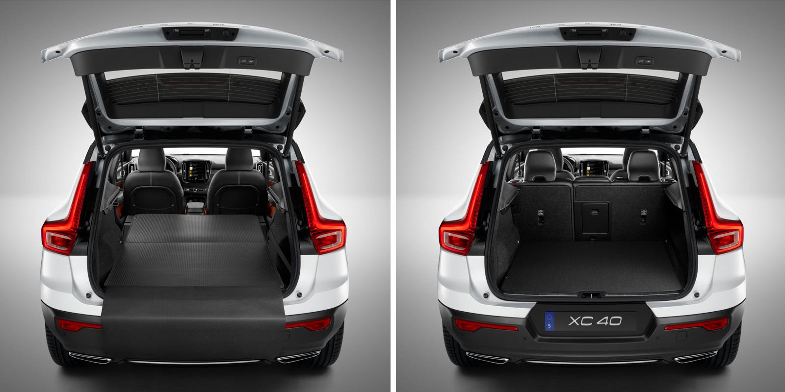Volvo XC40. Килимок у багажне відділення, двосторонній, текстиль/пластмаса фото